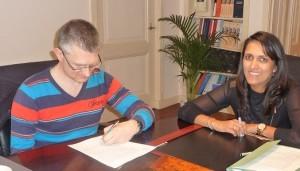 Ondertekening bij notaris
